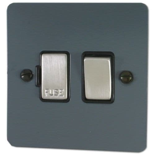 G&H FDG357 Flat Plate Dark Grey 1 Gang Fused Spur 13A Switched